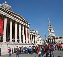National Gallery & St Martin in the Fields church by Keith Larby