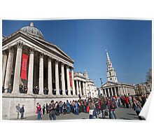 National Gallery & St Martin in the Fields church Poster