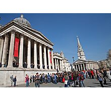 National Gallery & St Martin in the Fields church Photographic Print