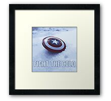 FIGHT THE COLD Framed Print