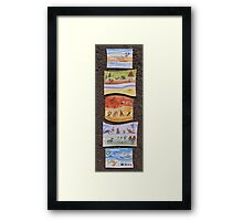 Puzzle Painting Animals from Earth Framed Print