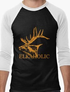 Elkaholic  Men's Baseball ¾ T-Shirt