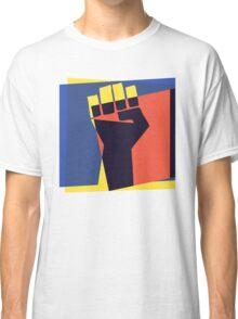 Pop Art Black Power Fist Classic T-Shirt