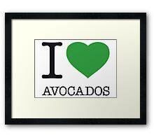 I ♥ AVOCADOS Framed Print