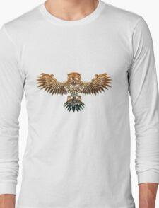 Bronze Steampunk Flying Owl T-Shirt