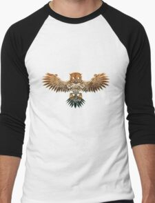 Bronze Steampunk Flying Owl Men's Baseball ¾ T-Shirt