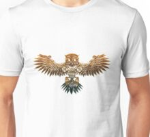 Bronze Steampunk Flying Owl Unisex T-Shirt