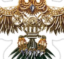 Bronze Steampunk Flying Owl Sticker