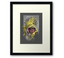 yellow worm Framed Print