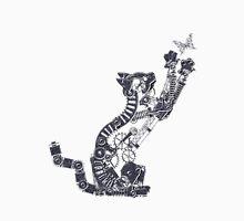 Steampunk Silver Kitten Unisex T-Shirt