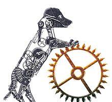 Steampunk Silver Puppy by Angelaook