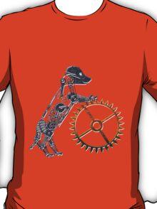 Steampunk Silver Puppy T-Shirt