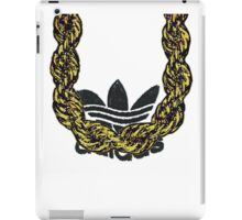 Old School Gold Rope Chain and classic logo 1 iPad Case/Skin