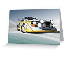 Audi Quattro S1 - Col de Turini Greeting Card