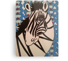 Ratchet Zebra Metal Print