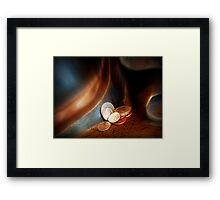 Pocket Change Framed Print