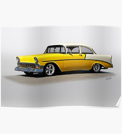 1956 Chevrolet Post Coupe I Poster