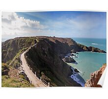 La Coupee on Sark channel islands Poster