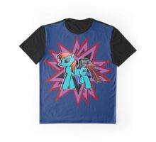"""Batwing Blue"" Graphic T-Shirt"