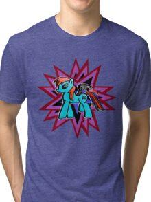 """Batwing Blue"" Tri-blend T-Shirt"