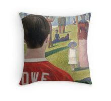 Georges Seurat's Sausage King Throw Pillow