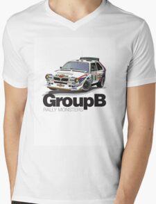 Lancia Delta S4 - Tour de Corse Mens V-Neck T-Shirt