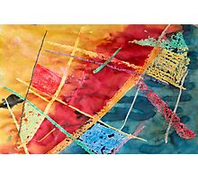 Colorful Abstract Watercolor Painting Photographic Print