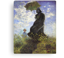 Vader with a Parasol Canvas Print