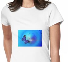 Blue butterfly Womens Fitted T-Shirt