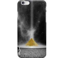 Black and White Astronaut and Golden Pyramid iPhone Case/Skin