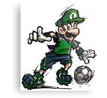 Luigi Striker Metal Print