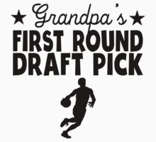 Grandpa's First Round Draft Pick Basketball One Piece - Short Sleeve