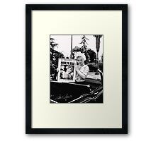Marilyn Monroe Weird Dead Display Framed Print