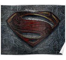 Superman Man Of Steel Mosaic Poster