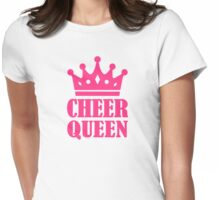 Cheer queen champion Womens Fitted T-Shirt