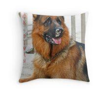 German Shepherd Male                    IMG_5747 Throw Pillow