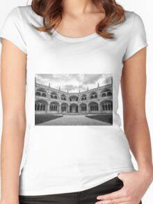 Jeronimos Monastery Cloister Lisbon Women's Fitted Scoop T-Shirt