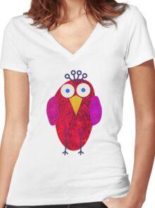Owlette Women's Fitted V-Neck T-Shirt