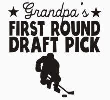Grandpa's First Round Draft Pick Hockey One Piece - Long Sleeve