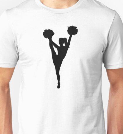 Dancing cheerleader girl Unisex T-Shirt