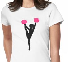 Cheerleader girl Womens Fitted T-Shirt