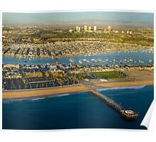 Aerial Newport Beach,California Poster