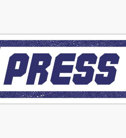 PRESS Blue - FrontLine Sticker