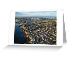 Newport Beach Aerial Photograph Greeting Card