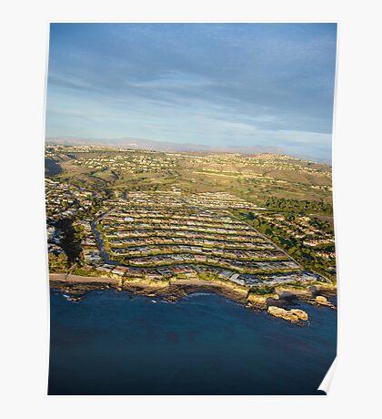 Aerial Newport Beach,California Poster