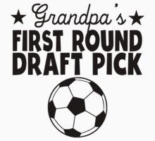 Grandpa's First Round Draft Pick Soccer Kids Tee