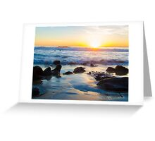 Sunset at Laguna Beach California Greeting Card