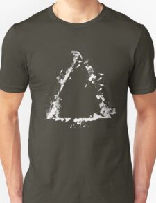 Ink Splatter Triangle - White Unisex T-Shirt