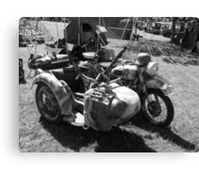 Gun carrying sidecar Canvas Print