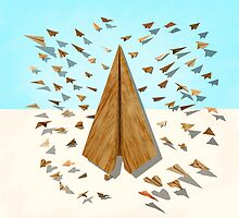 Paper Airplanes of Wood 10 by YoPedro